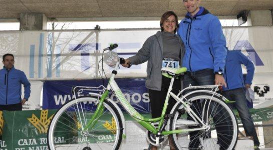 Premiada con una bici