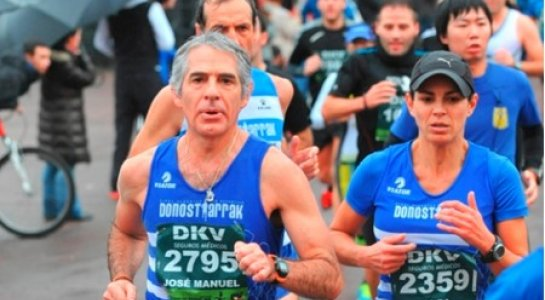 Josema en la Maratón de Donostia