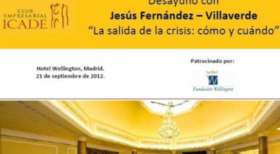 """Conferencia """"La salida de la crisis: cómo y cuándo"""" de Jesús Fernández Villaverde"""
